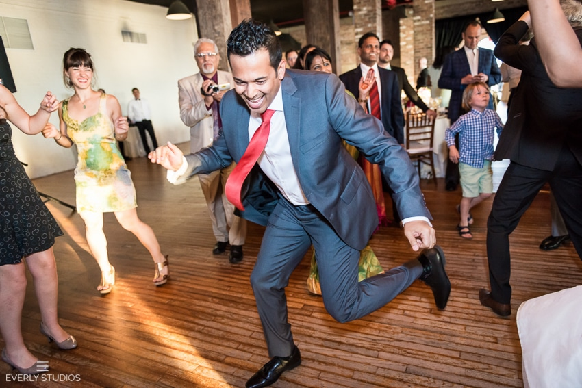 Indian wedding at Liberty Warehouse in Red Hook, Brooklyn. Photos by Everly Studios.