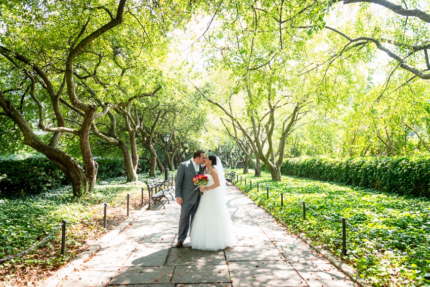 Central Park Wedding Photography: Central Park Conservatory Wedding Photography