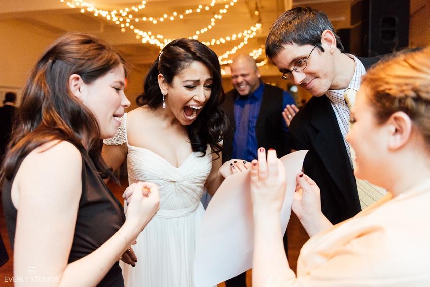 Midtown Loft and Terrace Wedding. Photos by New York wedding photographer Everly Studios, www.everlystudios.com