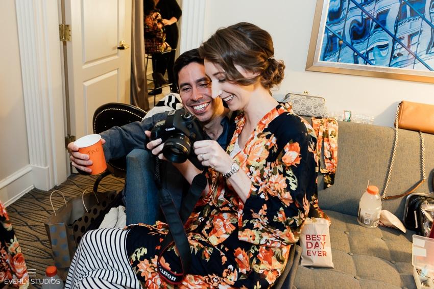 wedding at Midtown Loft and Terrace photography. Photos by New York wedding photographer Everly Studios, www.everlystudios.com